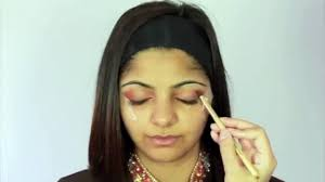 gold and peach mehndi makeup tutorial indian bridal asian arabic stani contemporary look video dailymotion
