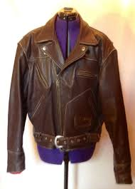 harley davidson brown leather motorcycle jacket size xl
