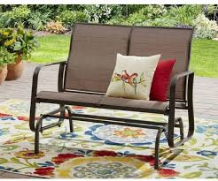 outdoor front porch furniture. Front Porch Furniture Glider Bench Patio Outdoor 2 Seat Sling All Weather Fabric Tan | EBay
