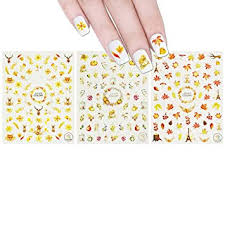 ALLYDREW 3 Sheets Fall Leaves Nails Thanksgiving ... - Amazon.com