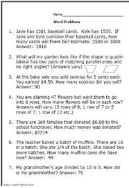 Pictures on Math Word Problems Worksheets 3rd Grade, - Easy ...