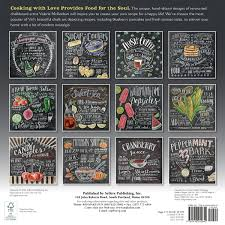 chalk art wall calendar
