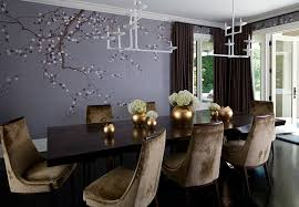 sumptuous dining room using majestic purple