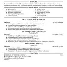 Caregiver Resume Sample Best Medical Caregiver Resume Example Livecareer Resume Templates 30