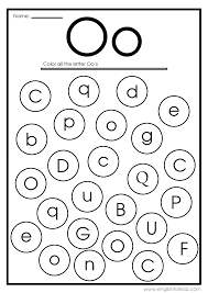 Free printable coloring pages for uppercase and lowercase letters for kids. Letter O Worksheets Flash Cards Coloring Pages