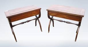 antique hall table. Pair Antique French Walnut Serving Side Console Tables 19th Century Hall Table