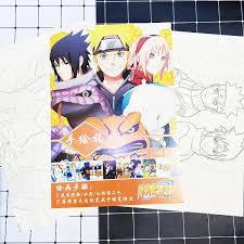 Tranh tô màu Naruto Sasuke tập bản thảo phác họa anime manga chibi
