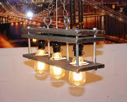 pallet wood 3 bulb rustic vintage lamp chandeliers wood lamps
