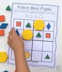 Pattern Block Logic Puzzles - Math Geek Mama