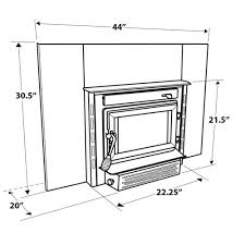 us stove medium epa certified wood burning fireplace insert diagram with measurements