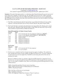 Fire Department Friction Loss Chart Calculating Pump Discharge Pressure Made Easy