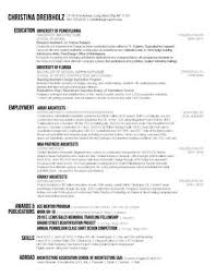 Architecture Cv Get A Job Resume Architect Resume It Cv