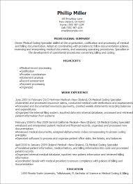 Coding Specialist Sample Resume Medical Coding Sample Resume shalomhouseus 2