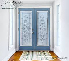 glass etching designs for doors amazing etched design by premier with regard to 7