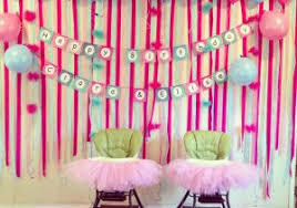 simple birthday decoration ideas for baby girl baby girl first