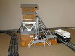 lionel coal elevator show your pix o gauge railroading on the safety cage ladders are plastruct the bottom of the ladders are set into two small holes drilled into the wood the top of the ladders are secured to