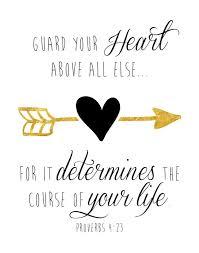 Life Quotes Inspiration 4040 Bible Verse Print Guard Your Inspiration Inspirational Bible Quotes Daily