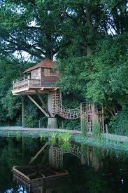 Outdoor: Amazing Three Story Treehouse Design - Treehouse