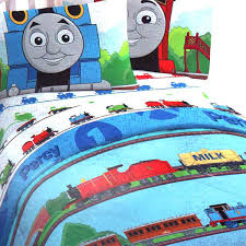 thomas the train comforter ride rails twin single bedding set crib bed sheets