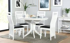 white round extending dining table white round extending dining table and 4 chairs set java innovative