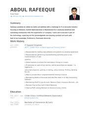 Customer Support Engineer Sample Resume 14 18 It Samples