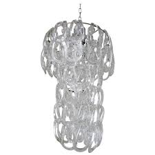 italian murano glass links chandelier by mangiarotti for vistosi for