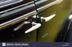 vintage car door handle. Close-Up Of Vintage Car Door Handle L