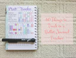 Our Journey In Journals 60 Things To Track In A Bullet Journal Tracker