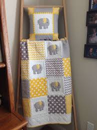 Best 25+ Baby quilts ideas on Pinterest | Baby quilt patterns ... & Elephant Baby Quilt in Yellow & Gray More Adamdwight.com