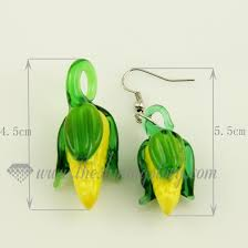 fruits venetian murano glass pendants and earrings jewelry design a