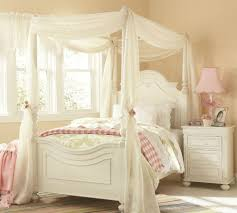 Installing White Canopy Bed Curtain — Ccrcroselawn Design