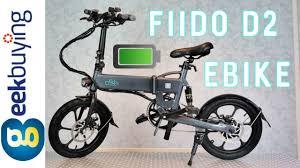 <b>FIIDO D2</b> Folding <b>Electric</b> Moped City <b>Bike</b> - YouTube