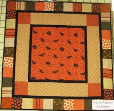 Fabric Mill: Halloween Quilt Kit & This is a cute Halloween quilt kit that can be used as a small throw or  wall hanging. This was created by Myrna Carnesseca. Adamdwight.com
