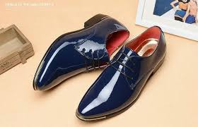 brand mens patent leather shoes men dress shoes lace up pointed toe flats with heighten 5