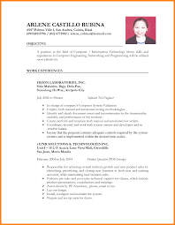 Sample Resume In The Philippines Free Resume Example And Writing