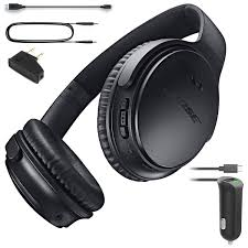 bose 35 ii. amazon.com: bose quietcomfort 35 (series i) bluetooth wireless noise cancelling headphones - black \u0026 car charger bundle: home audio theater ii