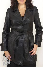 women s black leather trench coat atlantis cover