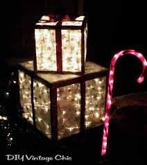 Christmas time  how to make lighted outdoor gifts ...