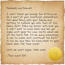 Farewell Letter Farewell Letter The Elf on the Shelf 1