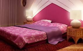 Light Pink Wallpaper For Bedrooms Bedroom Interior Design Pink Bed Underwear Pillow Cover Blanket