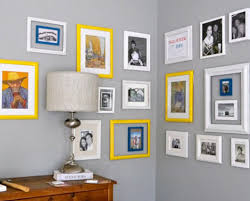 how to hang frames on walls without