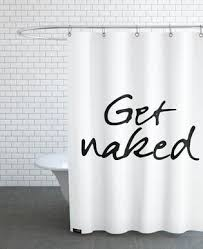 white and black shower curtain. Get Naked - JUNIQE Shower Curtain White And Black