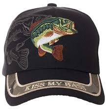 kiss my b hat funny fishing fisherman gift 100 cotton embroidered cap