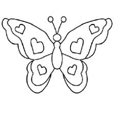 colouring pages of butterfly. Exellent Butterfly Butterfly Pictures With Hearts Shapes On Wings Coloring Pages On Colouring Of MomJunction