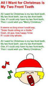 all i want for christmas is my two front teeth sheet music all i want for christmas is my two front teeth lyrics