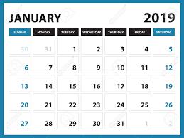 Desk Calendar Printable Desk Calendar For January 2019 Template Printable Calendar