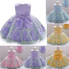 New Baby Flower Girls <b>Dress Summer</b> Tutu <b>Birthday Party Dresses</b> ...