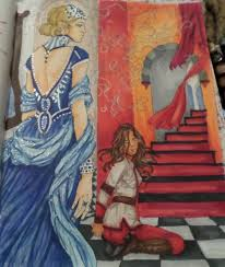 3 i worked with my red queen coloring book part ii