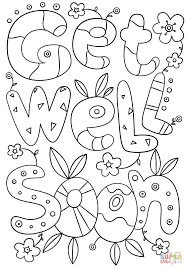 Get Well Soon Doodle Coloring Page Free Printable Coloring Pages