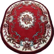persian medallion oval woven 5x8 area rug red off white actual size 5 2 x 7 2 for